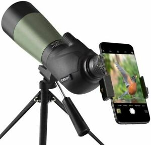 Gosky 20-60x60 HD Spotting Scope with Tripod, Carrying Bag and Scope Phone Adapt