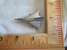 Vintage Gray Tootsie Toy Flying Plane, Fighter Plane, F-106 Dart Plane