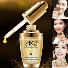 24k Gold Essence Cream Repair Collagen Face Skin Care Liquid Anti Wrinkle Aging