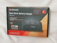 Parkside Dual Quick Charger 20V Battery Twin 30 mins Time PDSLG 20 A1 New Sealed