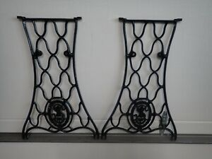 Antique SINGER Treadle Sewing Machine Base Legs Cast Iron Steam Punk  #50