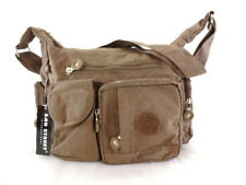 Bag Street Tasche Kaki Umhängetasche Reißverschluss viele Fächer Damentasche