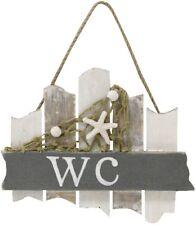 """Holzschild """" WC """"  Schild mit Netz & Seestern ca.18cm Maritim"""