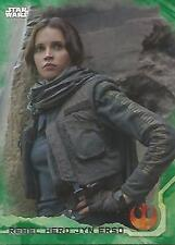 "Star Wars Rogue One Series 1: #46 ""Rebel Hero Jyn Erso"" Green Parallel Base Card"