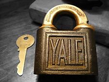 Antique Yale Lock New Haven, CT USA Lock With Key Antique Lock With Key