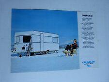 Catalogue prospectus : caravanes CARAVELAIR modèle quercy 2 des années 60