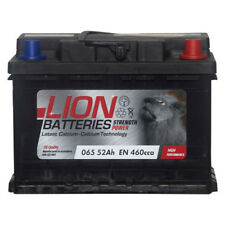 Lion Batteries Car Battery 12V 52Ah Type 065 460CCA Sealed 3 Years Warranty