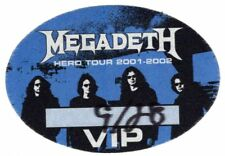 Megadeth Authentic 2001 Hero Tour Satin Cloth Backstage Pass Original Vip