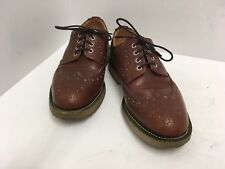 Mark McNairy PUMPKIN Tan Waxy Brogue Leather Shoes Women's Size 8 US England