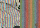 Vintage 40s 50s Candy Rainbow Stripe Wool Tweed Fabric 4 Yards
