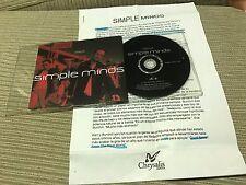 SIMPLE MINDS GLITTERBALL CD SINGLE PROMO CHRYSALIS 98+ RADIO PRESS SHEET SPANISH