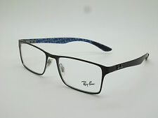 NEW Authentic Ray Ban RB 8415 2862 Shiny Brown Carbon Fiber 53mm Rx Eyeglasses