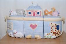 Susan Winget 3 Piece Noahs Ark Cookie Jar Canister Set