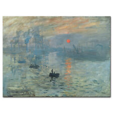 Monet Painting Reproduction Canvas Print Photo Picture Poster Sunrise Abstract