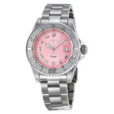 Invicta Angel Pink Dial Stainless Steel Ladies Watch 14360