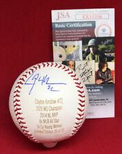 Clayton Kershaw Signed Engraved Baseball ROMLB JSA COA #22 Los Angeles Dodgers !
