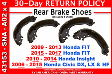 🔥 Genuine OEM Honda Civic Rear Brake Shoes Set 2006 - 2015 Fit Insight 🔥