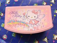 Vintage Sanrio Hello Kitty Pink Angel Trinket Jewelry Box Drawer Chest w/ Mirror