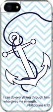 iPhone 5 Plain Faith Anchor Philippians 4:13 Designed Sticker on Hard Case Cover