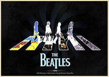 THE BEATLES - HIGH QUALITY ARTWORK POSTER - LOOKS AWESOME FRAMED