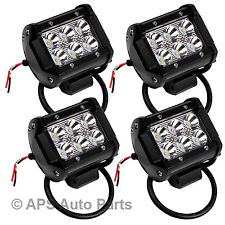 """4 X 18 W 4 """"CREE LED Travail Lampe Flood Beam Jeep bar Tracteur Camion 12V 24V CE"""