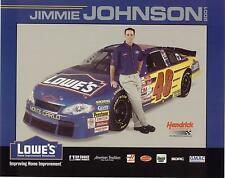2001 JIMMIE JOHNSON #48 LOWE'S POSTCARD!! B/B! HTF!!