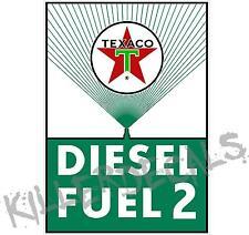 "12"" TEXACO RECTANGLE GREEN DIESEL FUEL GASOLINE GAS CHIEF PUMP OIL TANK DECAL"