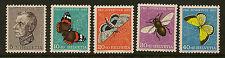 Suiza:1950 Pro Juventute Mariposas Set Sg j132-6 Menta desmontado