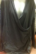 Womans Perfect Fashions Grey Crossover Tunic Top' Size 5XL (22)