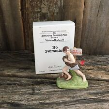 "Norman Rockwell ""No Swimming"" Figurine 1989 Danbury Mint Collection, Rockwell"