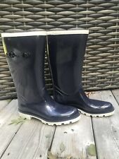 Womens Navy Blue Authentic GUCCI Rain Boots Sz 8 Or 39 GUC
