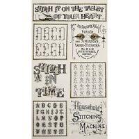 """Quilting Treasures Letter Stitch Sampler Cream 100% cotton 44"""" Fabric Panel 23"""""""