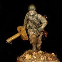 1/16 Resin Figure Model Kit German Soldier Panzergrenadier Waffen-SS WWII Unpain