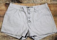OLD NAVY Womens Denim Shorts Waist 32 Button Front Casual Summer Camp Khaki Tan