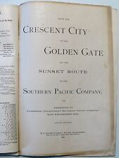 CRESCENT CITY TO GOLDEN GATE SUNSET ROUTE SOUTHERN PACIFIC CO. FOLDING MAP 1890