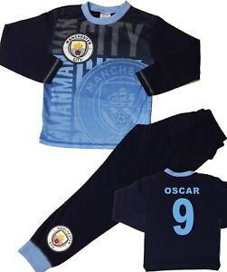 Boys All in One Hooded Pyjamas Football Fleece Kids One Piece Chelsea Man City