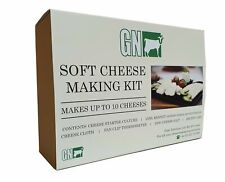 Cheese Making Kit - Rennet, Culture, Cloth, Thermometer & Cheese Salt