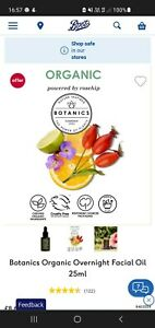 Boots Botanics Overnight Restoring Facial Oil ,with lavender and rosehip .25ml💫