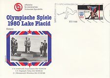 Schmuckbrief - Olympia 1980 Lake Placid / Eistanz
