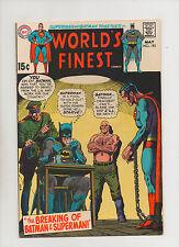 World's Finest #193 - The Breaking Of Batman & Superman - (Grade 9.0) 1970