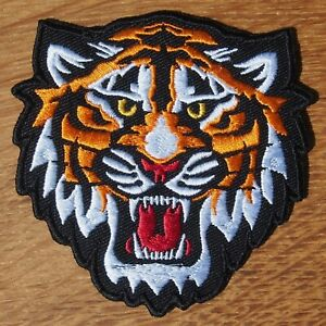 Motorcycle Biker Jacket Cafe Racer Triumph Cloth Patch SNARLING TIGER 9CM 3.5in