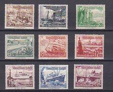 1937 Winterhilfswerk Deutsche Schiffe Postfrisch ** MNH 651 - 659 LESEN