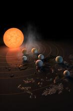 Incorniciato stampa-NASA's illustrazione del sistema trappist-1 (spazio immagine MOON)