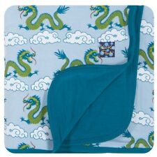 NEW KicKee Pants Stroller Blanket •Cloud Dragon•