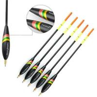 5pc Mixed Size Bobber Cork Vertical Float Carp Fishing Tackle-Wholesale Fis R9S3