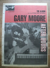 GARY MOORE - AFTER HOURS - ORIGINAL ADVERT POSTER SIZE 1992 - 16 X 11