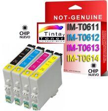 4 CARTUCHOS DE TINTA COMPATIBLE NON OEM EPSON STYLUS DX3800 DX3850 T0611/2/3/4