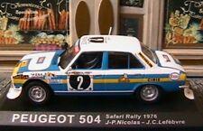PEUGEOT 504 #2 SAFARI RALLY 1976 NICOLAS LEFEBVRE 1/43 IXO ALTAYA ESSO CIBIE