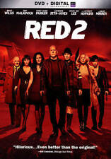 RED 2 (DVD, 2013, Includes Digital Copy; UltraViolet, Brand New)