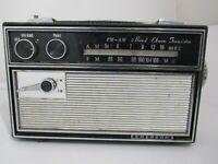 Emerson AM FM 2 Band Vintage Transistor Radio Original Leather Case UNTESTED